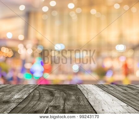 Image Of Big Retail Shop Blurred Background.