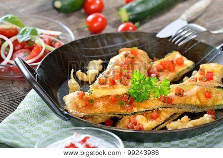 Coated zucchini