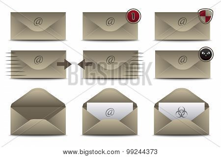 Envelopes Icons for Email