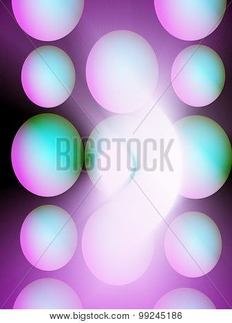 Background gradient with balls