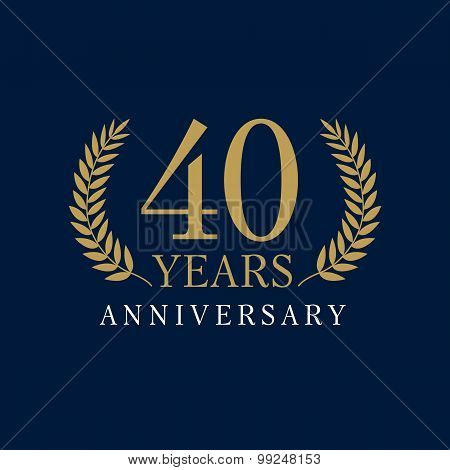 40 anniversary royal logo