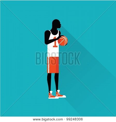 basketball player flat