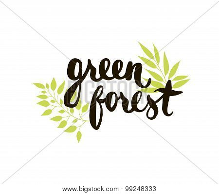 Green forest card.