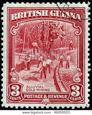 Gold Mining Stamp