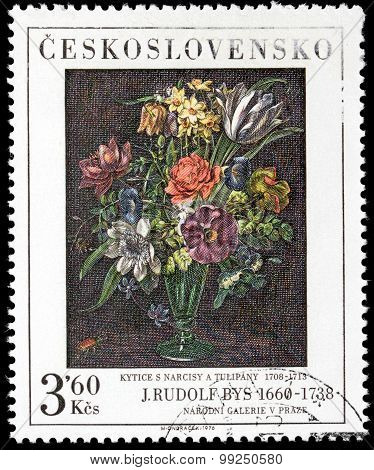 Narcissus And Tulips