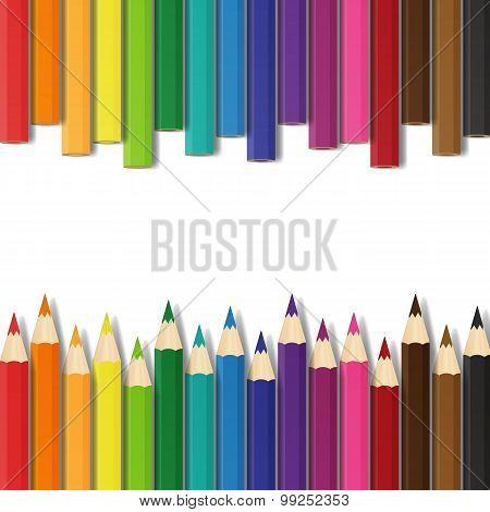 School Colorful Pencils Vector Illustration