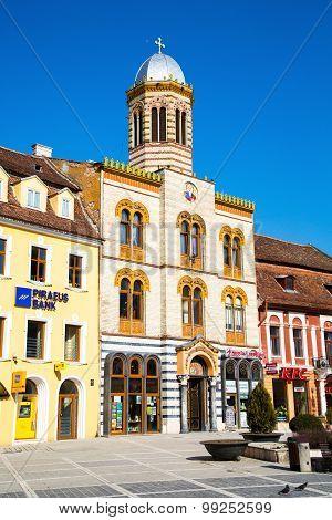 Orthodox Church At Piata Sfatului- The Center Of Brasov