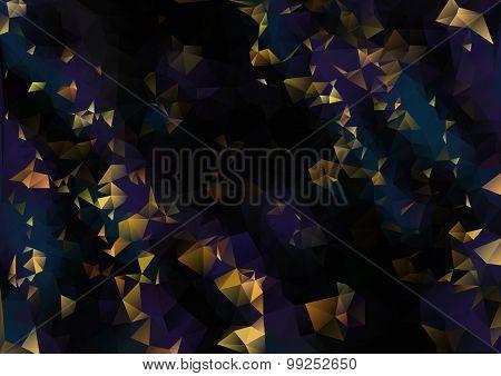 Cubism background The fine gold on black