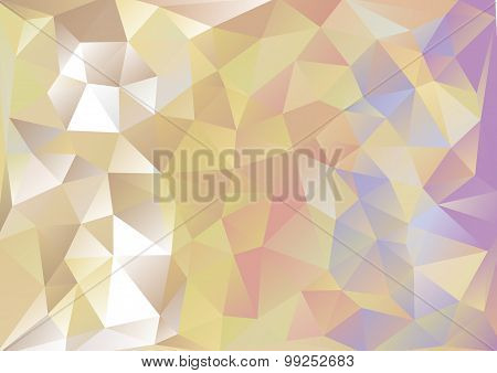 Cubism background Gold and purple blue red