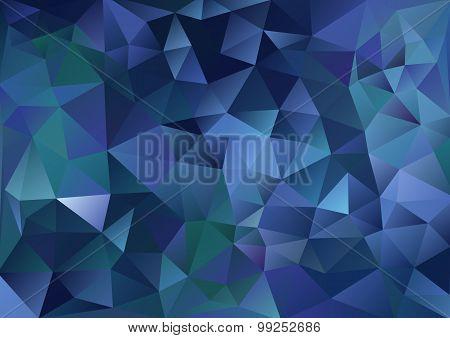 Cubism background Dark blue and green