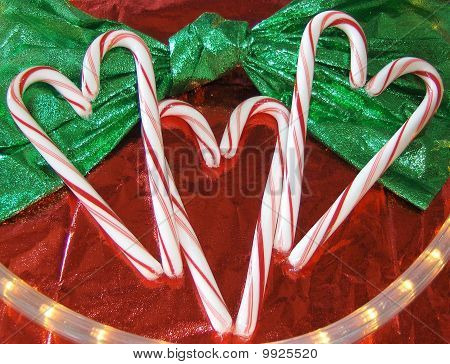 Christmas Candy Cane Hearts
