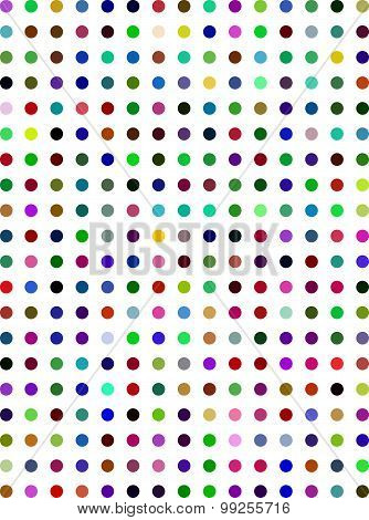 Tiny Multi-Color Dots Background