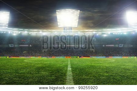 the beginning of a football match