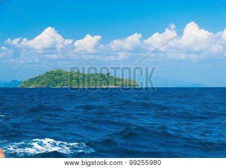 Idyllic Seascape Desert Island