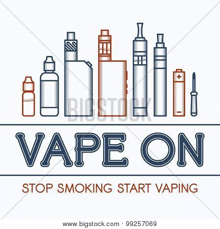Color Vector Illustration Of Vape