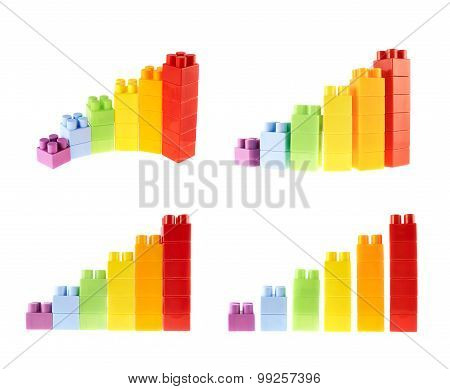 Bar chart diagram isolated