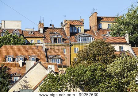 Roofs Of Houses Of The Old Town Shown In Close-up