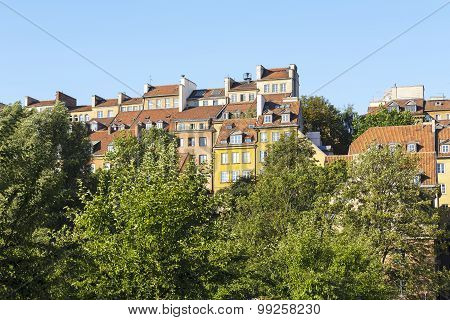 Warsaw's Old Town Houses In Poland