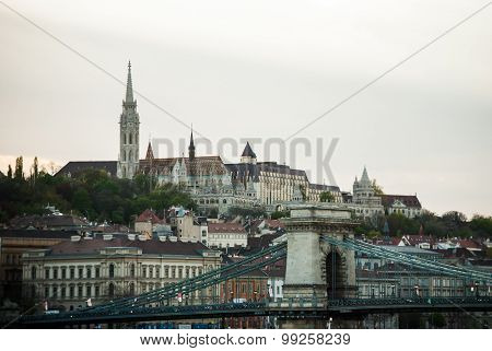 Picturesque scenery of the Budapest city in Hungary
