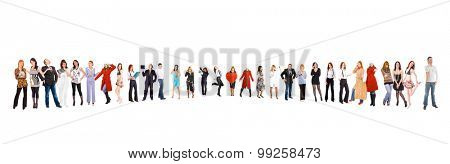 Corporate Culture Isolated over White