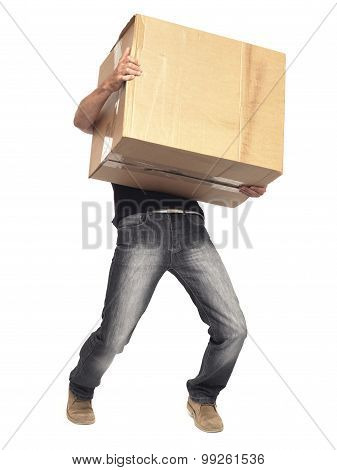 Man Carrying Box Different Angle