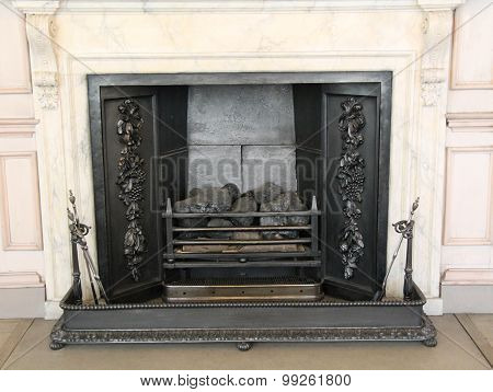 Cast Iron Fireplace.