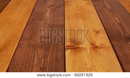 Paint coated wooden boards