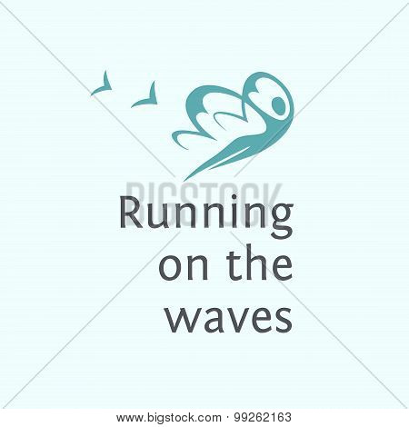 Print poster, T-shirt.   Elements for spa logo. Running on the w