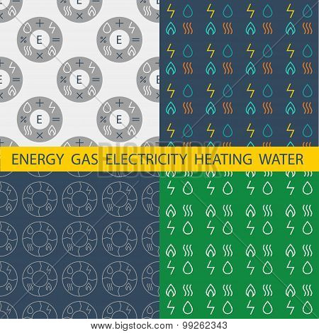 Set pattern vector for energy companies, energy management and a