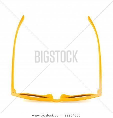 Yellow sun glasses isolated