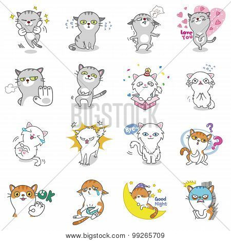 Cat Vector Emoticons