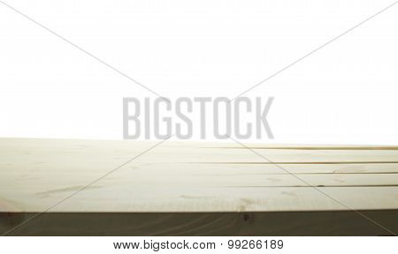 White paint coated wooden boards