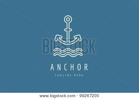 Anchor vector logo icon. Sea, vintage or sailor and sea symbol. Anchor logo. Anchor icon. Sea symbol. Premium quality, tatoo.