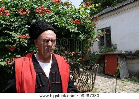 Portrait Of A Pensive Kuban Cossack