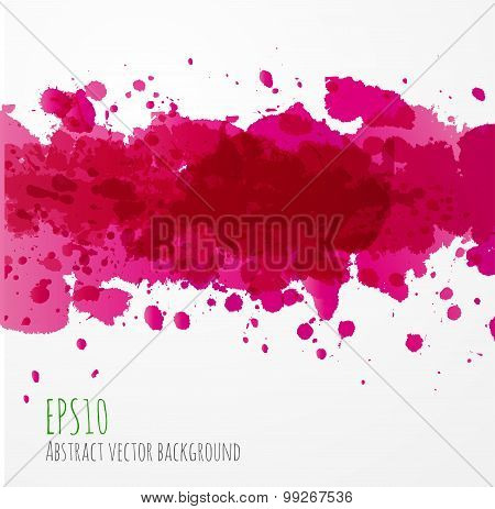 Big bright pink splash on white background.