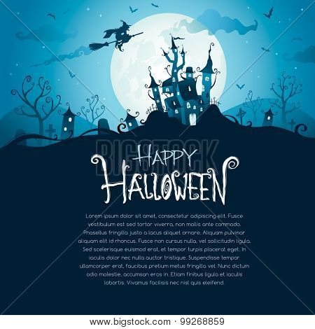 Halloween design with wide copy space