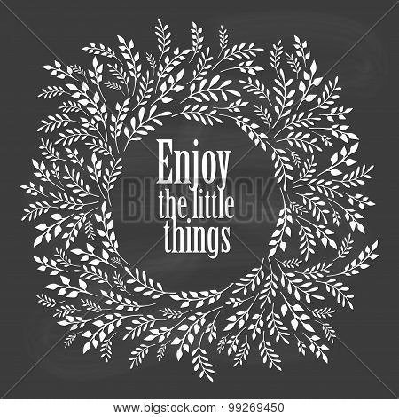 Enjoy the little things typography poster