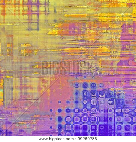 Old texture - ancient background with space for text. With different color patterns: yellow (beige); red (orange); purple (violet); pink