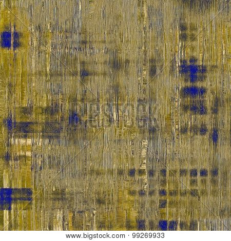 Abstract grunge textured background. With different color patterns: yellow (beige); brown; gray; blue