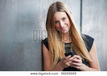 Attractive girl using smart phone