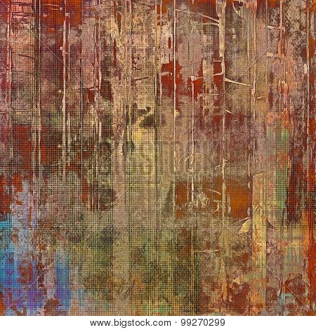 Designed grunge texture or retro background. With different color patterns: yellow (beige); brown; red (orange); blue