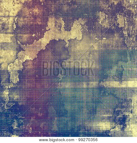Old abstract grunge background for creative designed textures. With different color patterns: yellow (beige); brown; purple (violet); blue