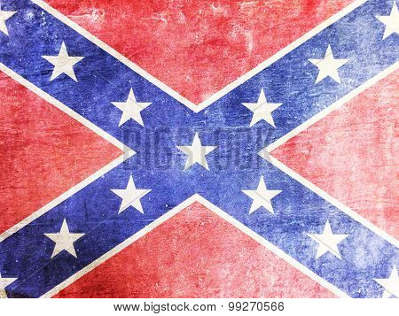 Confederate flag background texture in grunge style