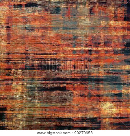 Background in grunge style. With different color patterns: brown; red (orange); black; pink