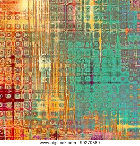 Grunge texture, may be used as retro-style background. With different color patterns: yellow (beige); red (orange); green; blue; pink