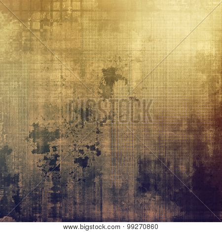 Old, grunge background texture. With different color patterns: yellow (beige); brown; purple (violet); gray