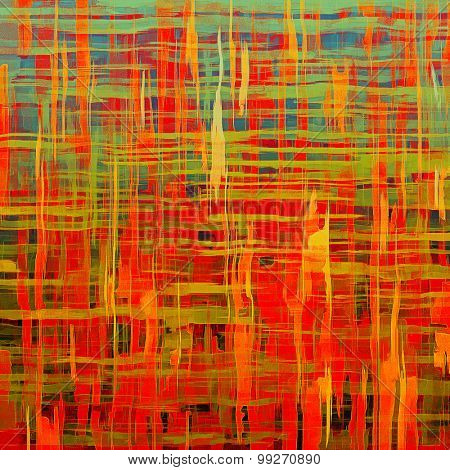 Rough grunge texture. With different color patterns: yellow (beige); red (orange); green; blue