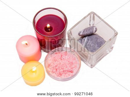 Candles and bath salts from