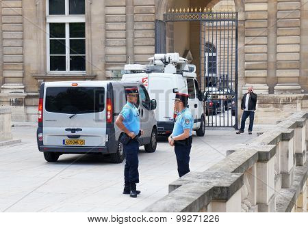 Gendarmes Near The Luxembourg Palace
