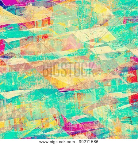 Old abstract grunge background, aged retro texture. With different color patterns: yellow (beige); purple (violet); blue; cyan